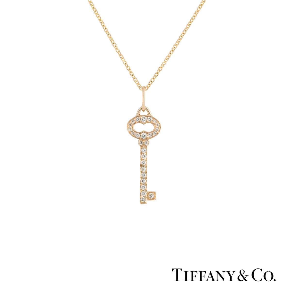 Tiffany & Co. Rose Gold Diamond Keys Pendant
